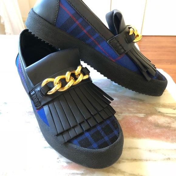 8b5d940257863 Giuseppe Zanotti Shoes - Giuseppe Zanotti plaid fringe sneakers shoes